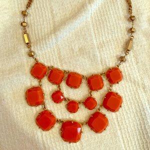 Stella & Dot Orange Statement Necklace